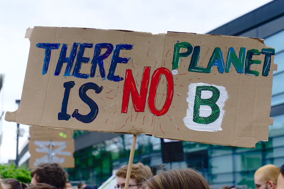 art for change climate strike banner