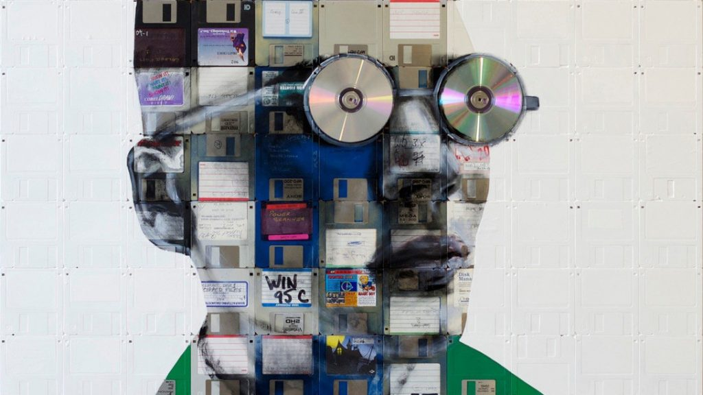 Recycled art Floppy disks